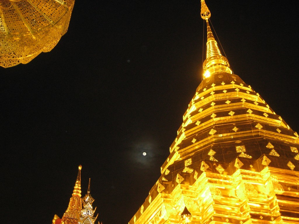 Moonlight at Doi Suthep, Chiang Mai, Thailand