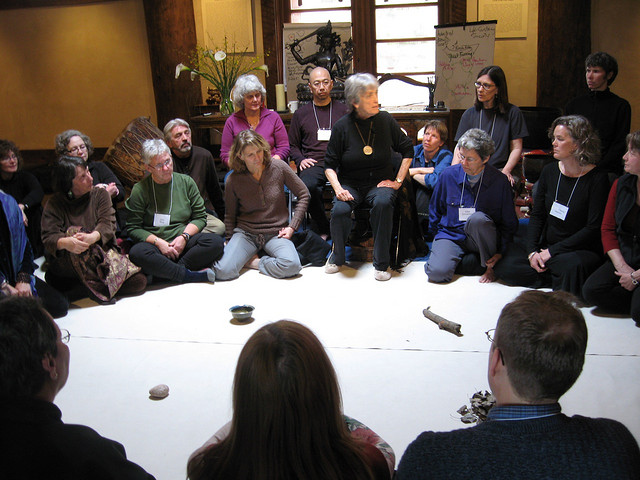 Joanna Macy teaching at Upaya Zen Center / Photo: Roshi Joan Halifax